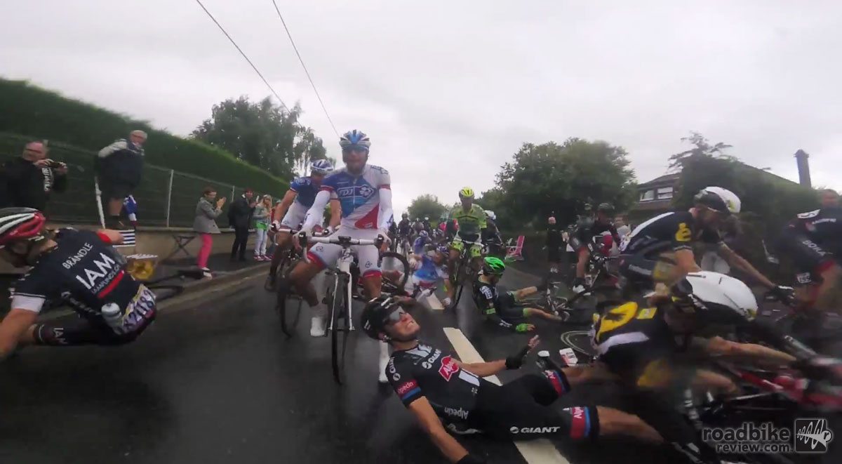 Once again a multitude of crashes left numerous riders bruised, battered, or worse.