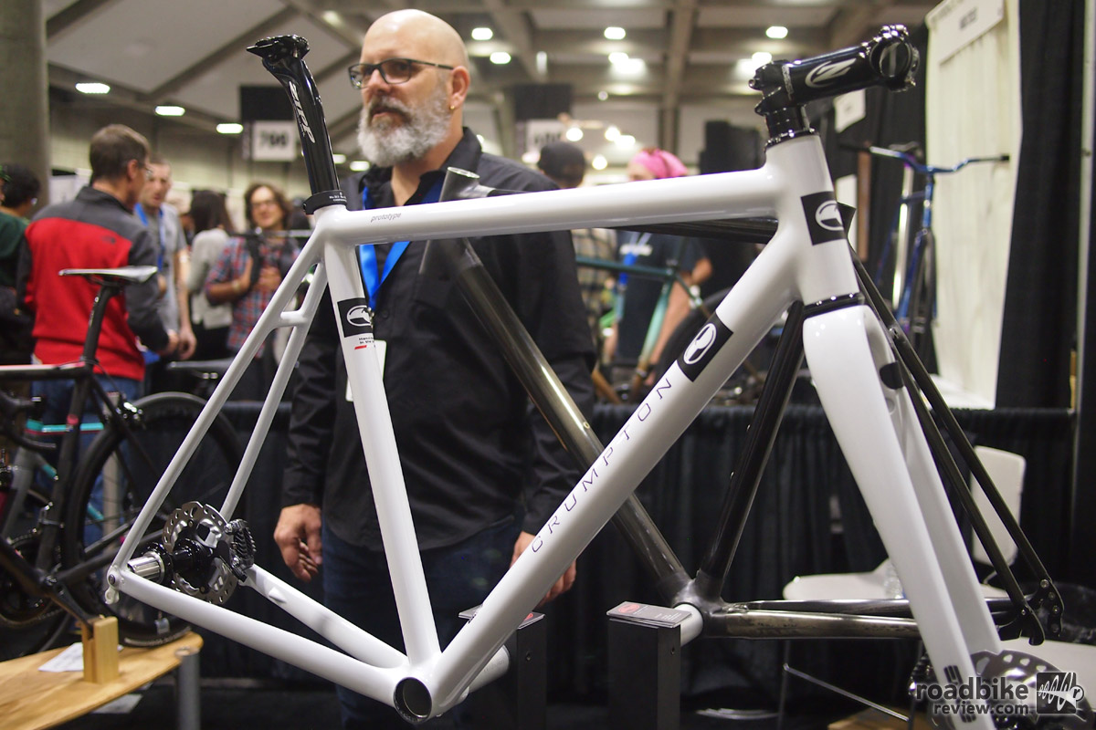 Nick Crumpton specializes in only one frame material: carbon. The Type 5 Disc is gravel ready and has options for Di2.