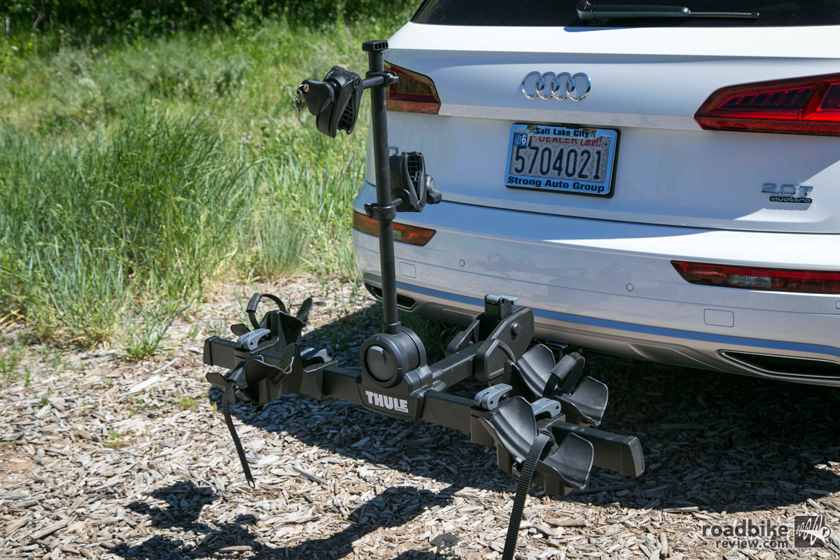 Thule Double Track Pro, ProRide Rack, and Chasm Bag