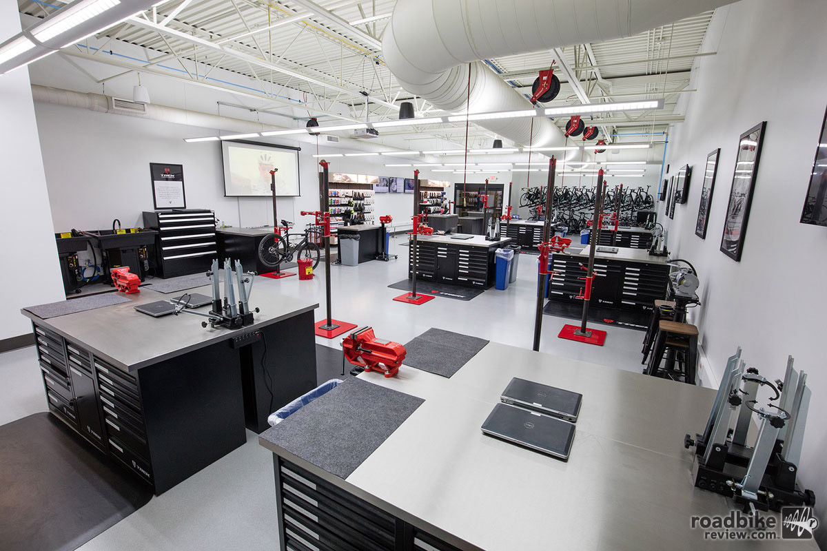 The Trek Certified Service Center covers 2200 square feet of dedicated educational space and can accommodate between 12-20 students per course depending on subject matter.
