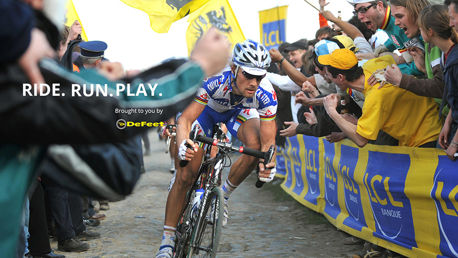Tom Boonen Paris-Roubaix 2008 Defeet