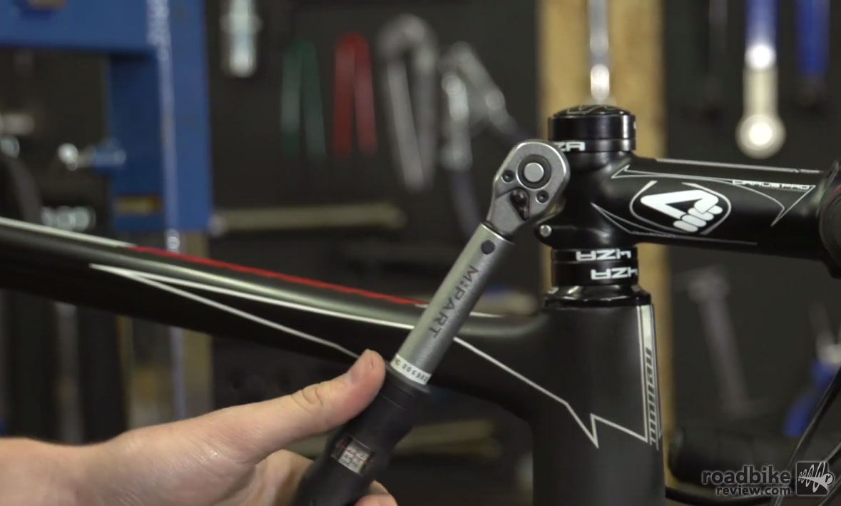 Make sure you don't over tighten or under tighten your bikes important bolts.