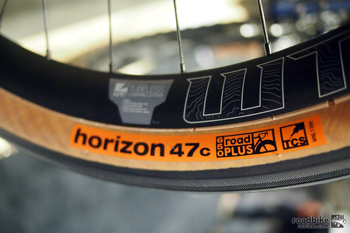 WTB's Horizon tire is a 47c tire called road Plus.