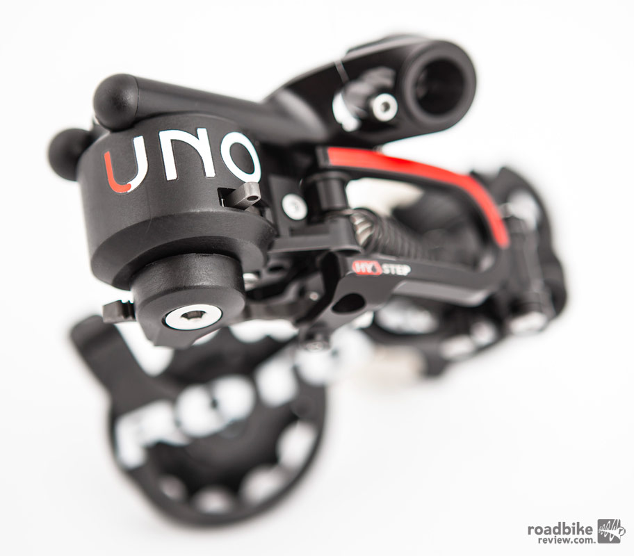 Rotor says the Uno system, including the pictured rear derailleur, will be intended for the consumer who values fine craftsmanship, which sounds a lot like a warning about a high price point.