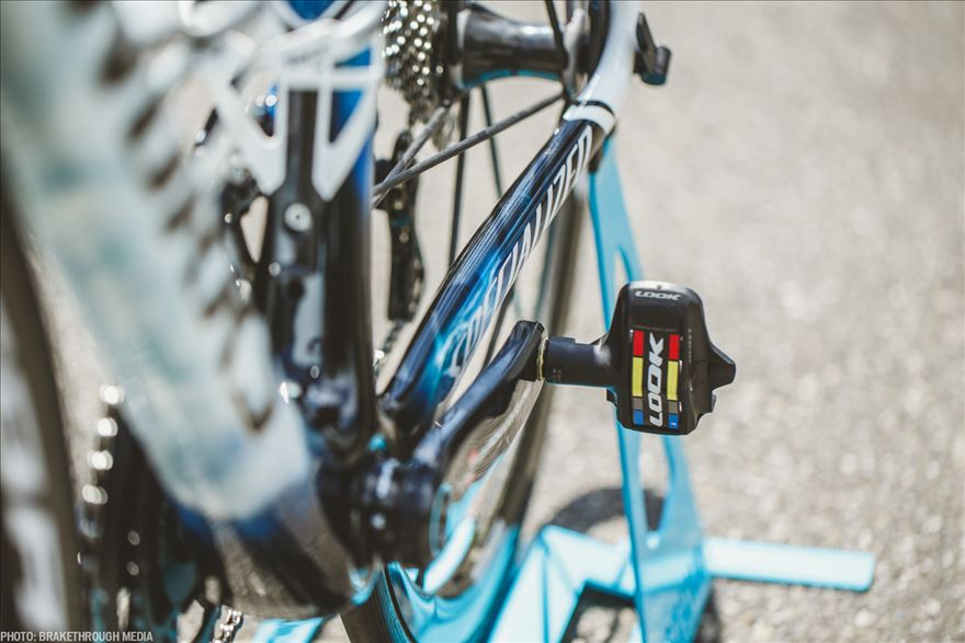 Look are the Italian's pedal of choice.