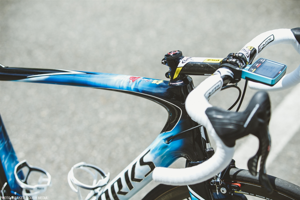 """""""The design direction for the 2016 Nibali Shark Bike was to do something a little more organic. Taking cues from Mother Nature, I wanted to bring in the power and the energy of the ocean combined with traditional core race elements that is S-Works. We decided early on that adding more black to the bike would keep it aggressive. The design at its core needed to look fast, clean & ultimately reflect the athlete,"""" said Joe Lynch, Senior Graphic Designer at Specialized."""