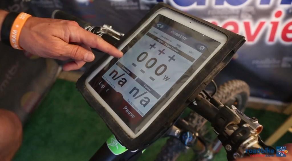 Wahoo KICKR Power Trainer with iPad