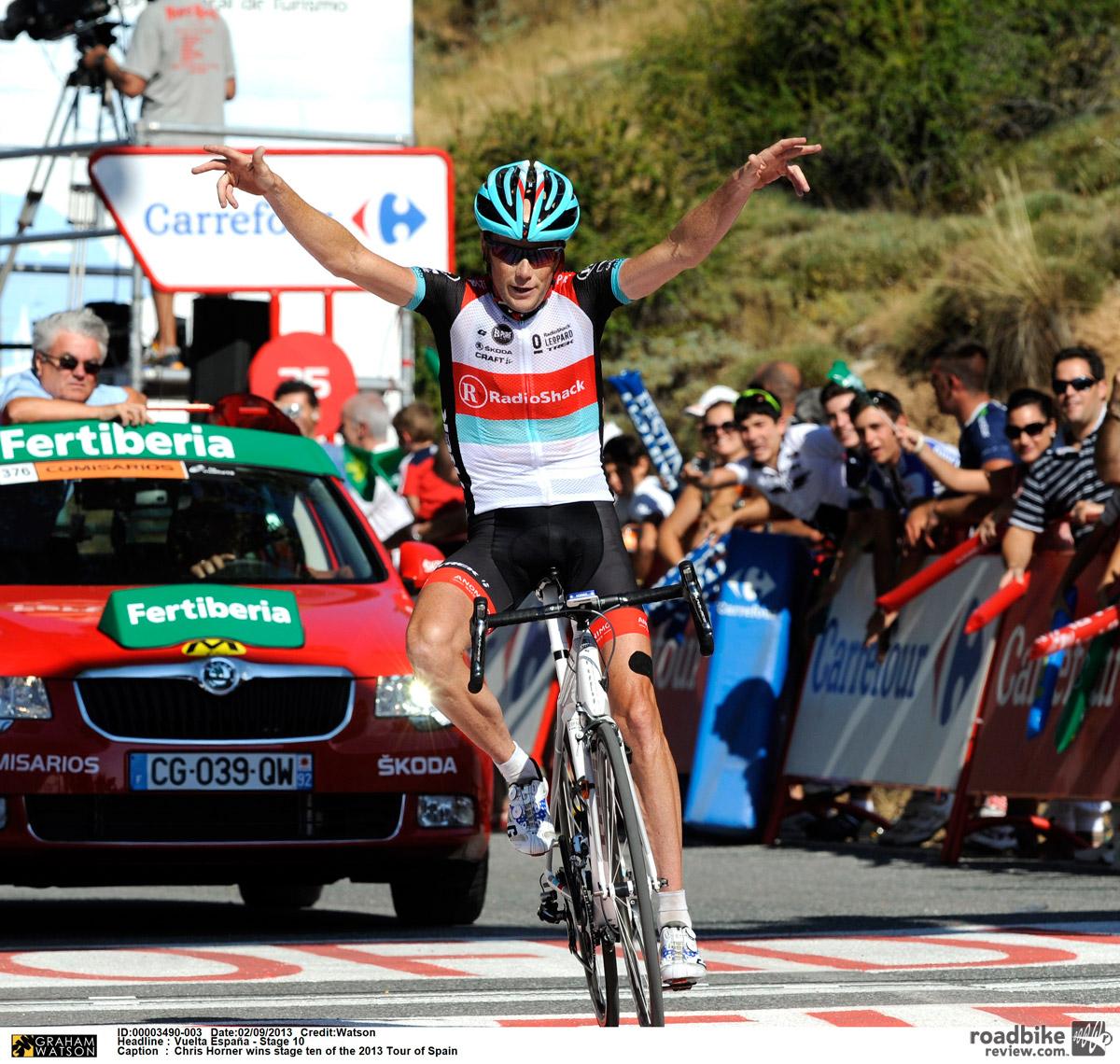 The American won the Vuelta a España in 2013.
