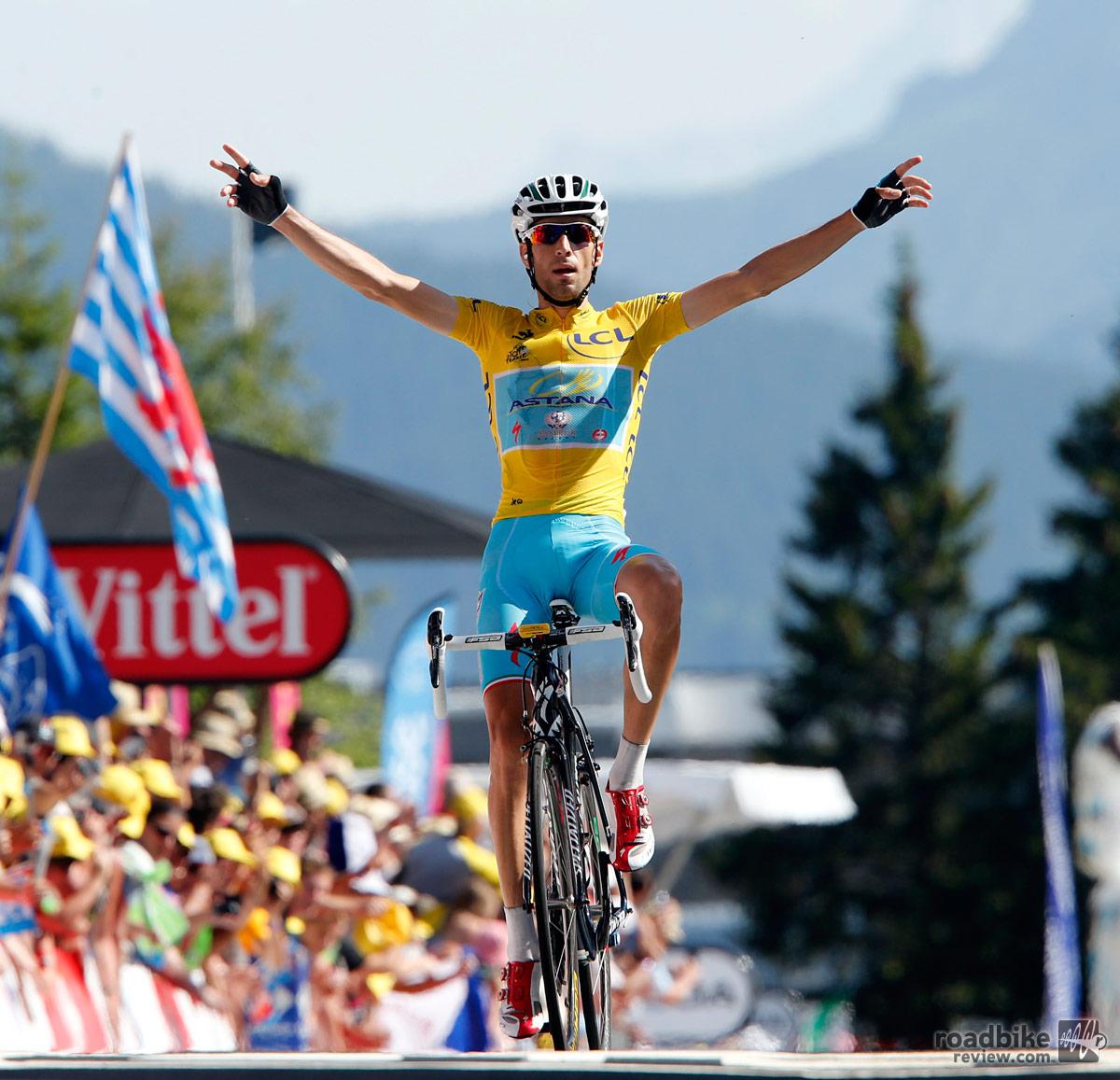 Nibali Finish Line