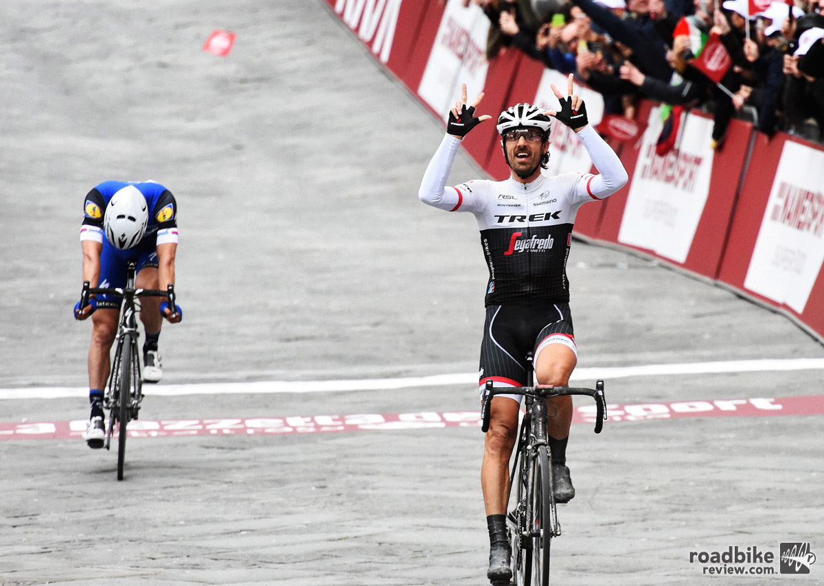 The new Domane SLR has already been raced on the WorldTour, as Fabian Cancellara piloted it to victory at the 2016 Strade Bianche in Italy.