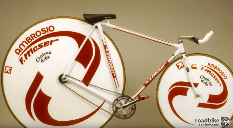Before the UCI stepped in with rules for hour record bikes, this was one of the steeds to took on the 60-minute test.