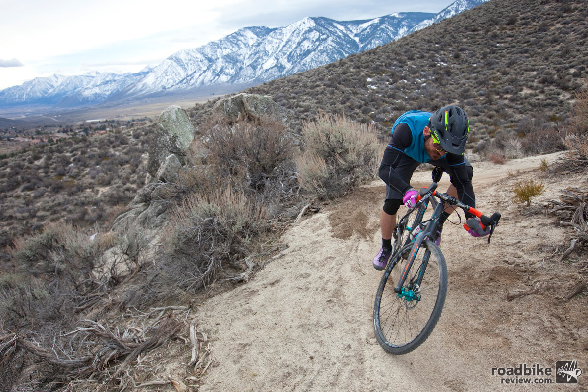 The author riding Clear Creek Trail near Carson City, NV. Photo by Rick Gunn –  soulcycler.com