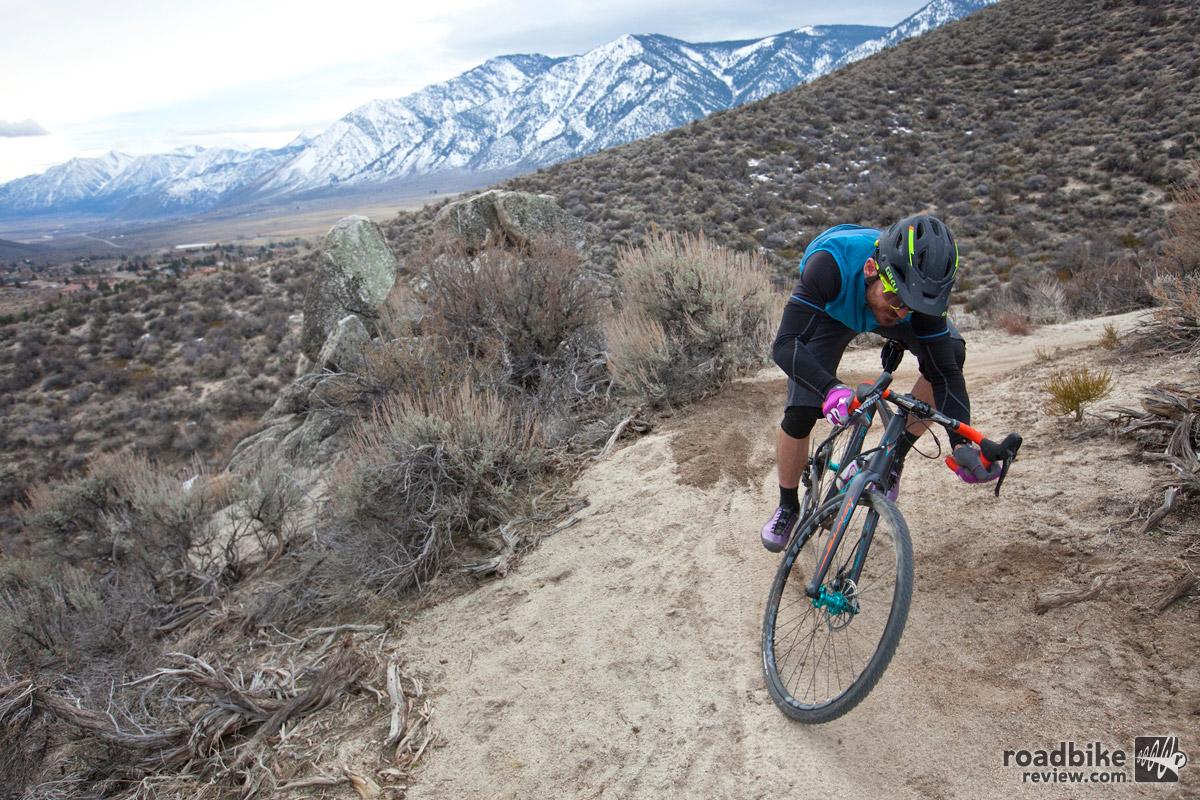 The author riding Clear Creek Trail near Carson City, NV. Photo by Rick Gunn –  soulcycler.com