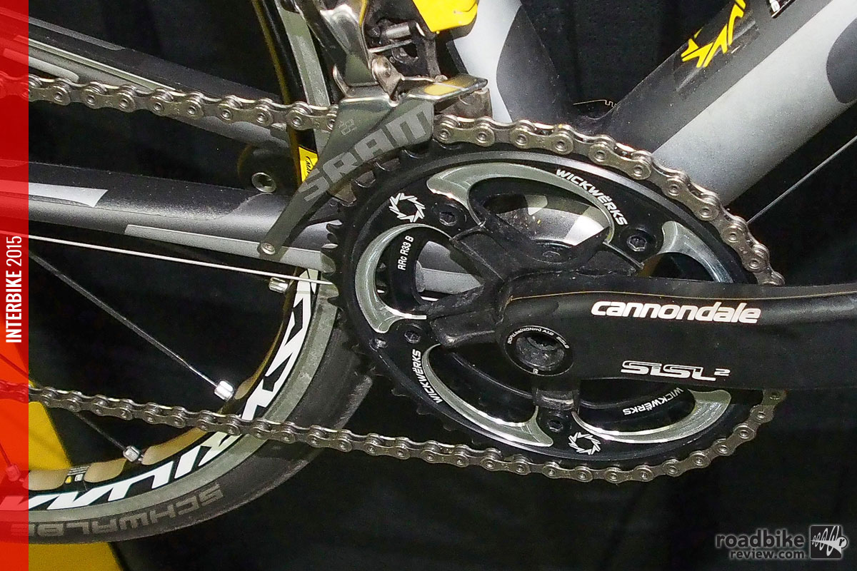 The new 41/33 chainrings paired with an 11t cog falls within the rollout range required in junior racing.