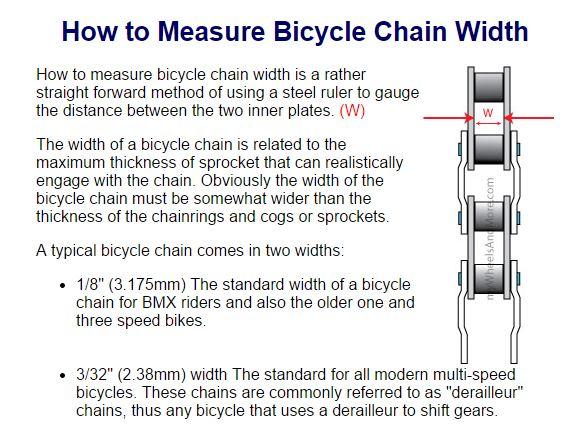 chain size............