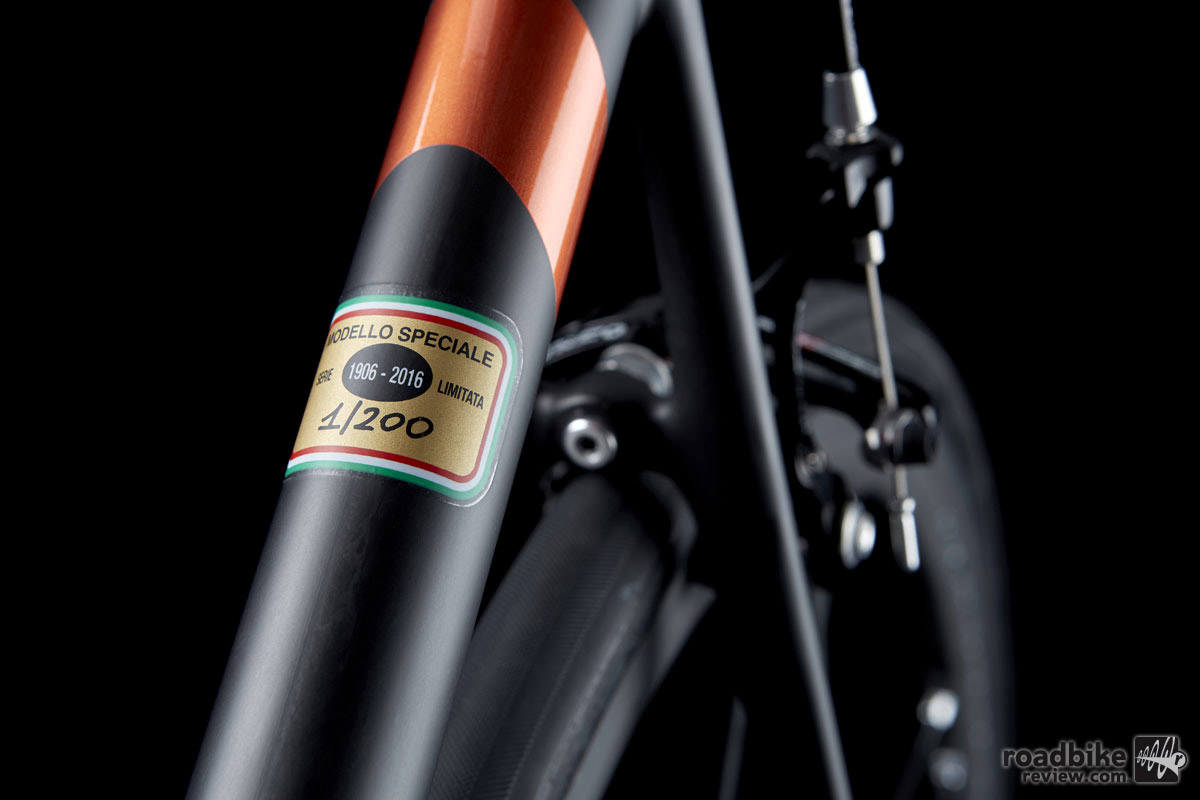The ultra-light racing frame has a claimed weight of just 680 grams.