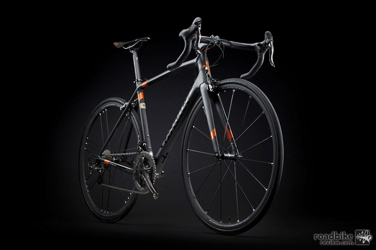 The anniversary-edition bike uses a new carbon fiber called DIALED, which is produced by Mitsubishi Japan.