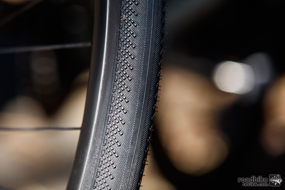 Thumbnail Credit (roadbikereview.com): Smooth to knobby helps make this a super double duty tire option.