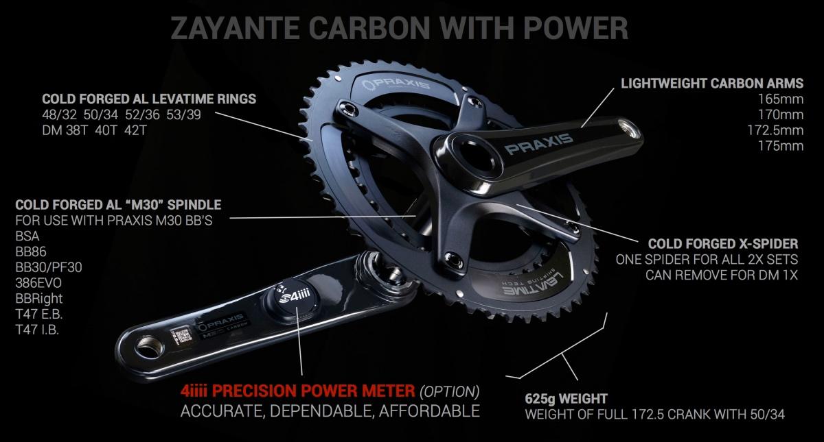 Praxis Zayante Carbon Cranks
