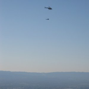 Up to 6 choppers in the air