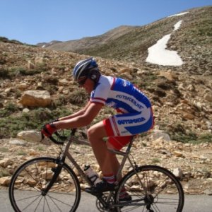 Riding in Faraya.. The last section of the climb