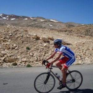 Riding in Faraya Taking in the scenery